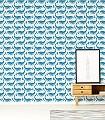 Whale-of-a-Time,-col.03-Tiere-Fische-KinderTapeten-Blau-Weiß