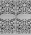 White-Cast-Iron-Lace-Gitter-FotoTapeten-Grau-Weiß