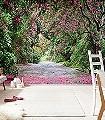 Wicklow-Park-Bäume-Blätter-FotoTapeten-Grün-Pink