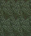 Willow-Bough-Bitter-Chocolate-Blätter-Klassische-Muster-Florale-Muster-Rot-Grün