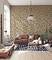 Willow-Cream/Brown-Blätter-Klassische-Muster-Florale-Muster-Braun-Creme