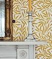 Willow-Yellow-Blätter-Klassische-Muster-Florale-Muster-Gelb-Weiß