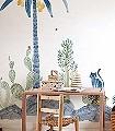 Wilton-Mural-Blumen-Tiere-Bäume-Blätter-Moderne-Muster-FotoTapeten-KinderTapeten-Multicolor