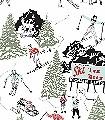 Winter-Sports-Bäume-Figuren-Sport-Moderne-Muster-Rot-Schwarz-Hellgrün-Weiß