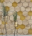 Woodcomb-Birch-Kachel-Holz-3D-Tapeten-FotoTapeten-Gelb-Creme