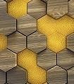 Woodcomb-Olive-Kachel-Holz-3D-Tapeten-FotoTapeten-Braun-Gelb