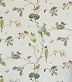 Woodland-Chorus,-col.03-Bäume-Vögel-Florale-Muster-Creme-Multicolor