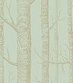 Woods-No.-23-Bäume-Moderne-Muster-Gold-Hellgrün