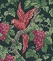 Woodvale-Orchard,-col.-20-Blumen-Tiere-Blätter-Vögel-Äste-Früchte-Fauna-Rot-Grün-Braun