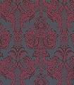 Wyndham-Ornamente-Klassische-Muster-Rot-Anthrazit-Schwarz