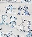 Yes-Skate-Figuren-Zeichnungen-KinderTapeten-Blau-Lila-Weiß