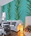 Yucca,-col.-8-Blätter-Florale-Muster-Grün-Hellblau