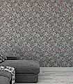 Zinnia,-col.-8-Blumen-Florale-Muster-Grün-Braun-Rosa-Ocker