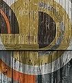 belles-matieres,-Motif.-02-Kreise-Holz-Moderne-Muster-FotoTapeten-Orange-Anthrazit
