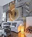 belles-matieres,-Motif.-03-Kreise-Beton-Moderne-Muster-FotoTapeten-Grau-Braun-Orange