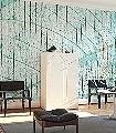 belles-matieres,-Motif.-13-Blätter-Holz-Moderne-Muster-FotoTapeten-Grün-Türkis
