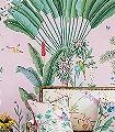 de-Gournay---Amazonia-Blumen-Tiere-Blätter-Vögel-Äste-Vintage-Tapeten-Klassische-Muster-Fauna-Florale-Muster-FotoTapeten-Rosa-Multicolor