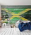 flags,-col.03-Rauten-Holz-Fototapeten-Collage-Fahne-Moderne-Muster-FotoTapeten-Grün-Gelb-Anthrazit