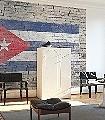 flags,-col.04-Stein-Sterne-Fototapeten-Collage-Fahne-Backstein-Moderne-Muster-FotoTapeten-Rot-Blau-Weiß