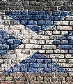 flags,-col.05-Rauten-Stein-Fototapeten-Collage-Fahne-Backstein-Moderne-Muster-FotoTapeten-Blau-Weiß