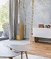 forrest-gold-Bäume-Äste-Moderne-Muster-Weiß
