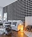 marble-chess-Kachel-Quadrate/Rechtecke-Moderne-Muster-Grau-Anthrazit-Schwarz-Creme