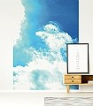 plane_into_the_sky-Wolken-Moderne-Muster-FotoTapeten-Blau-Weiß