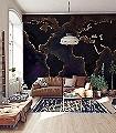 the-world-map-night-Welt-Moderne-Muster-Weiß