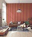 Anakreon-Stripes,-darkmagenta-gold-Streifen-Blockstreifen-Rot-Gold