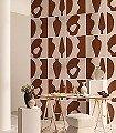 CARREAUX-DE-TERRE,-Terre-brune-Graphisch-Moderne-Muster-Braun-Creme