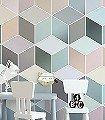 CUBES-PASTEL-Graphisch-FotoTapeten-Grafische-Muster-Multicolor