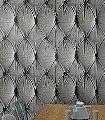 Chesterfield-Button-Back,-grey-Polster-3D-Tapeten-tromp-l'oeil-FotoTapeten