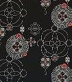 Galaxias,-col.02-Kreise-Retro-Muster-Rot-Gold-Braun