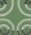 Harvest-Dance,-green-Ornamente-Figuren-Moderne-Muster-Orientalisch