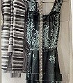 Hawaiiane-Dress-Kleidung-Moderne-Muster-Creme-Multicolor