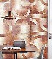 LEONARDO-RUST,-col.-1-Kreise-Farbverlauf-Moderne-Muster-Grafische-Muster-Braun-Orange-Creme