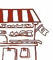 Mein-kleiner-Kaufladen,-Komplett-Motiv-KinderTapeten-Rot