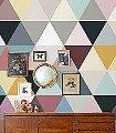 Mosaic,-soft-Retro-Graphisch-Dreiecke-Vintage-Tapeten-Moderne-Muster-Retro-Muster-Grafische-Muster-Multicolor