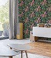 Oda-Blumen-Florale-Muster-Schwarz-Multicolor