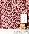Pebbles,-col.04-Formen-Moderne-Muster-Retro-Muster-Rot-Schwarz-Creme