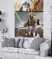 Star-Wars-Moments-Rebels-Figuren-Comic-Collage-FotoTapeten-Blau-Braun-Schwarz-Creme