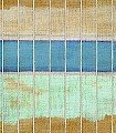 Tangka-Streifen-Stoff-FotoTapeten-Creme-Hellbraun-mint-petrol