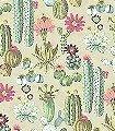 Vivid-Cacti-Blumen-Florale-Muster-FotoTapeten-Exoten-Multicolor