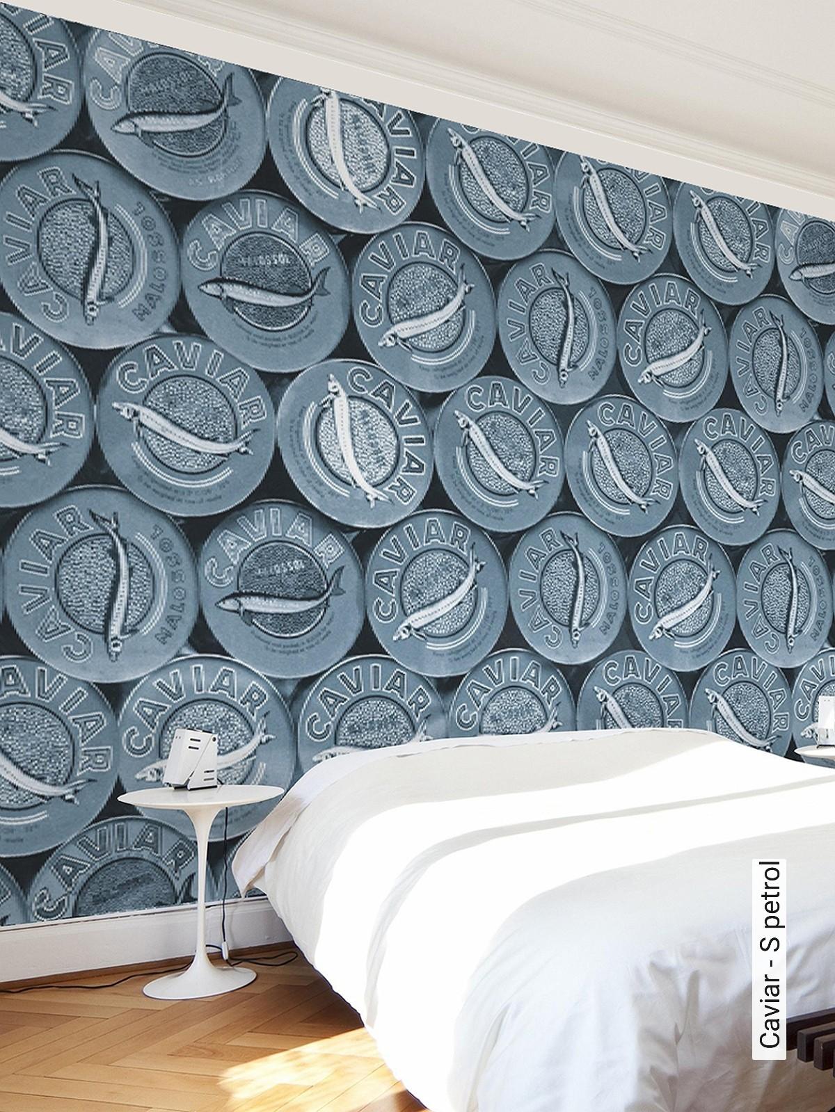 Caviar S Petrol Gegenstande Moderne Muster Fototapeten Blau