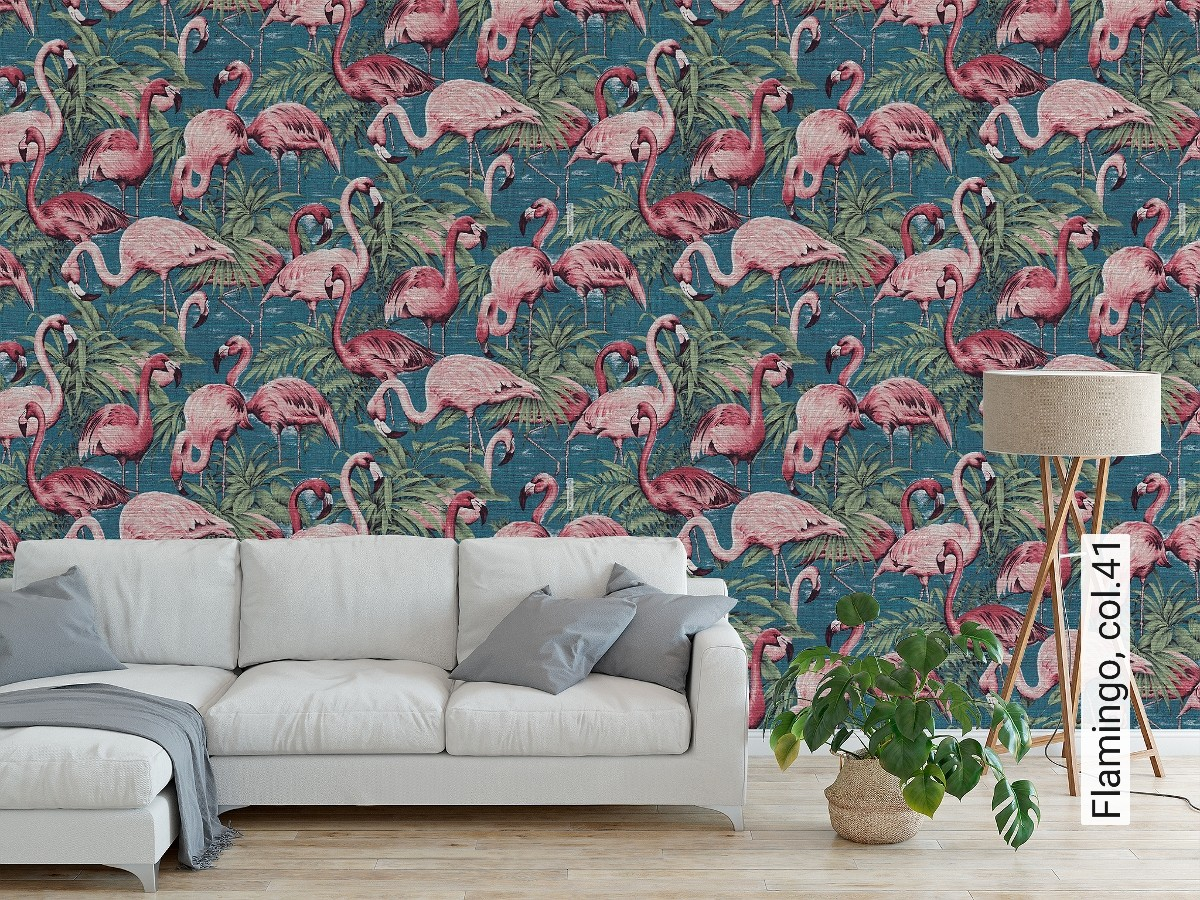 Tapete flamingo die tapetenagentur for Tapete breite