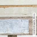 Holzstücktapete, Weiss