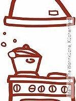 Tapete: Meine kleine Wohnküche, Küchenherd