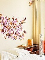 Walltatoo: Mini pop flower red