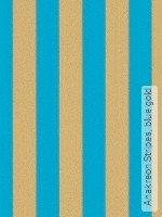 Tapete: Anakreon Stripes, blue gold