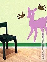 Walltatoo: Goldpony Bambi rosa